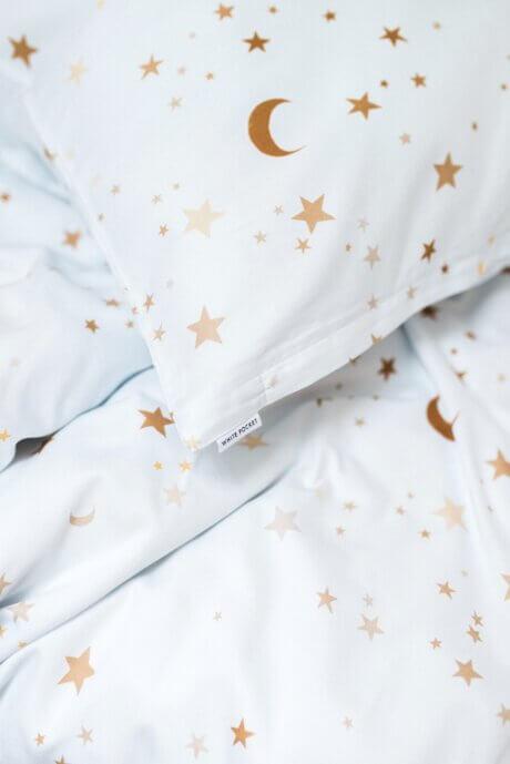 pościel bawełniana w gwiazdki white pocket