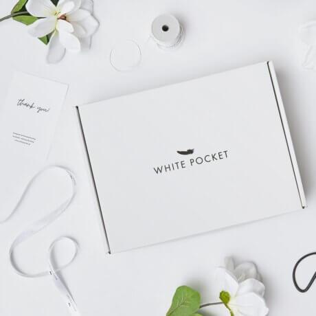 białe ozdobne pudełko white pocket