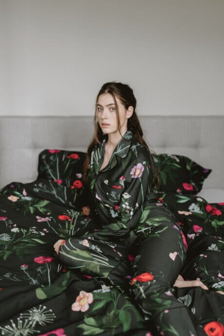 piżama nocna łaka długa