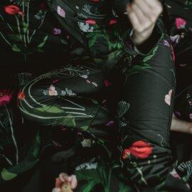 piżama nocna łaka ciemna