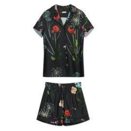 piżama nocna łaka ciemne kwiaty