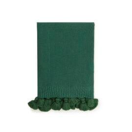 narzuta na łóżko zielona white pocket